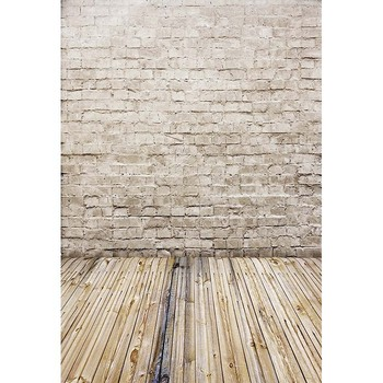 5x7ft Vinyl Photography Background Computer Printed Wood floor and brick wall Wallpaper Backgrounds for Photo studio CM-5674