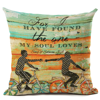 Home Decor Ocean Beach Series Printed Cotton Linen Decorative Cushion Cover Pillowcase Car Seat 45*45cm